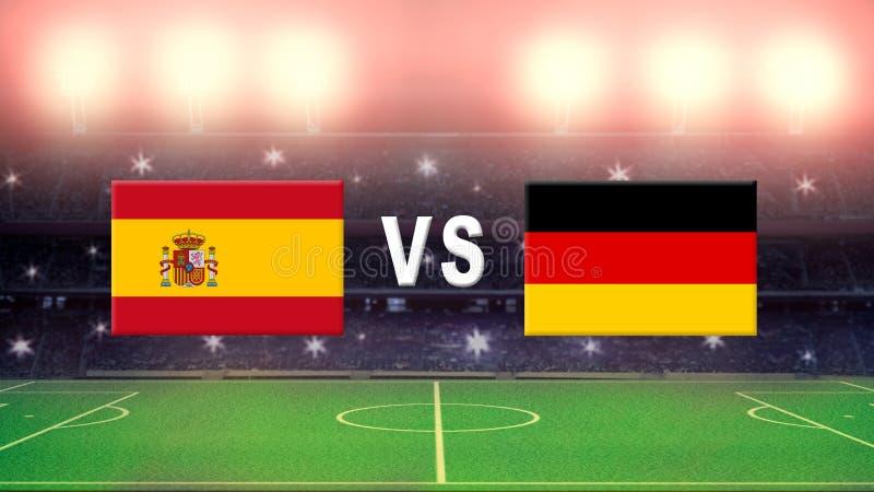 Espanha contra Alemanha ilustração royalty free
