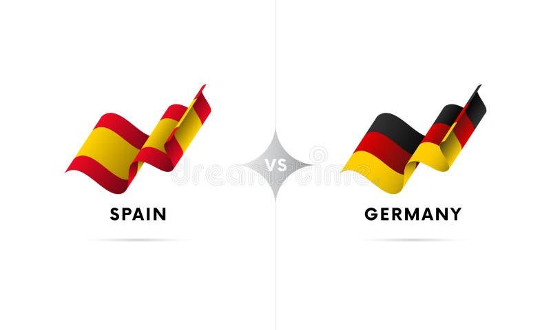 Espanha contra Alemanha Futebol Ilustração do vetor ilustração royalty free
