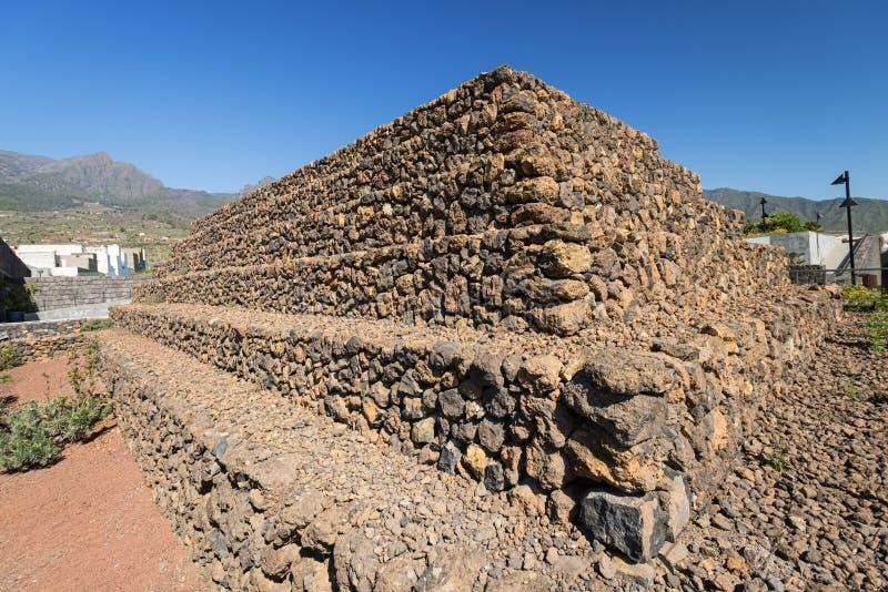 Espanha das Ilhas Canárias de Guimar Tenerife das pirâmides da etapa de Guanches fotos de stock