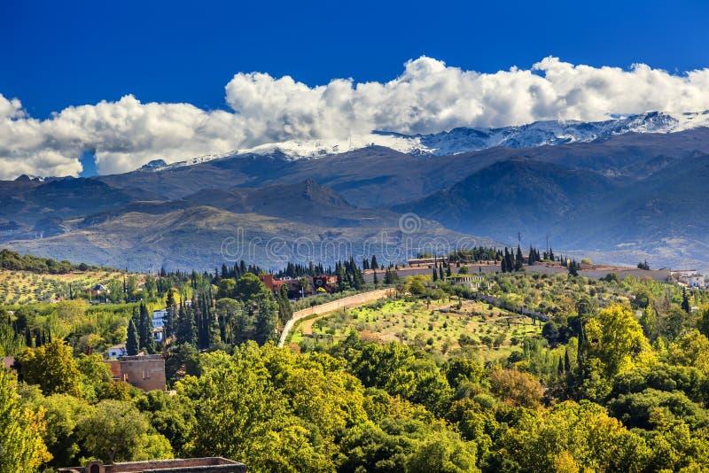 Espanha de Alhambra Farm Mountains Granada Andalusia fotos de stock royalty free