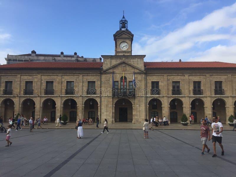 Espanha de Aviles as Astúrias no verão imagens de stock royalty free