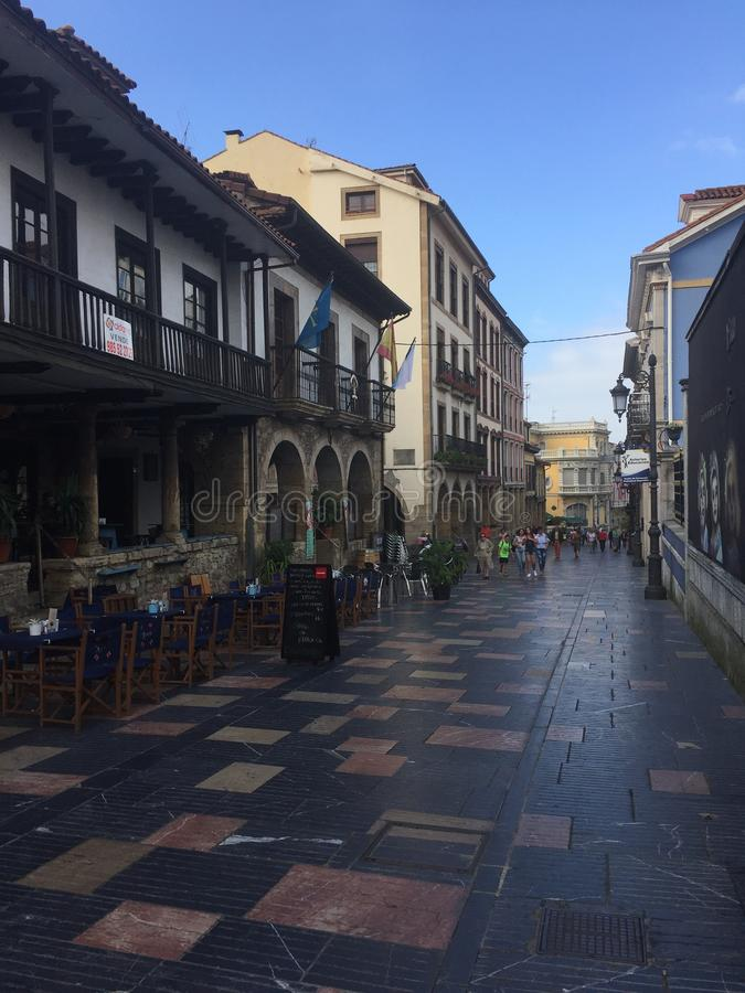 Espanha de Aviles as Astúrias no verão foto de stock royalty free