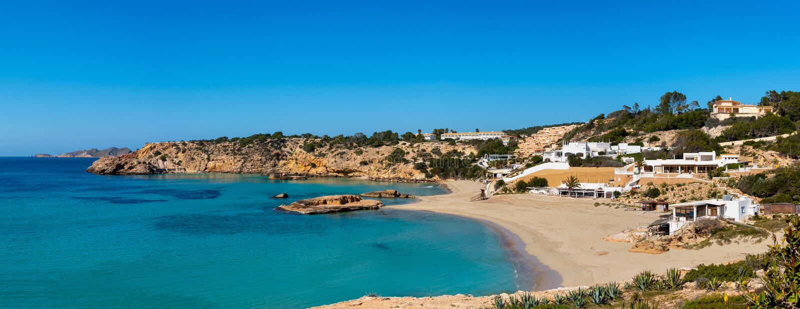 Espanha de Cala Tarida Ibiza imagens de stock