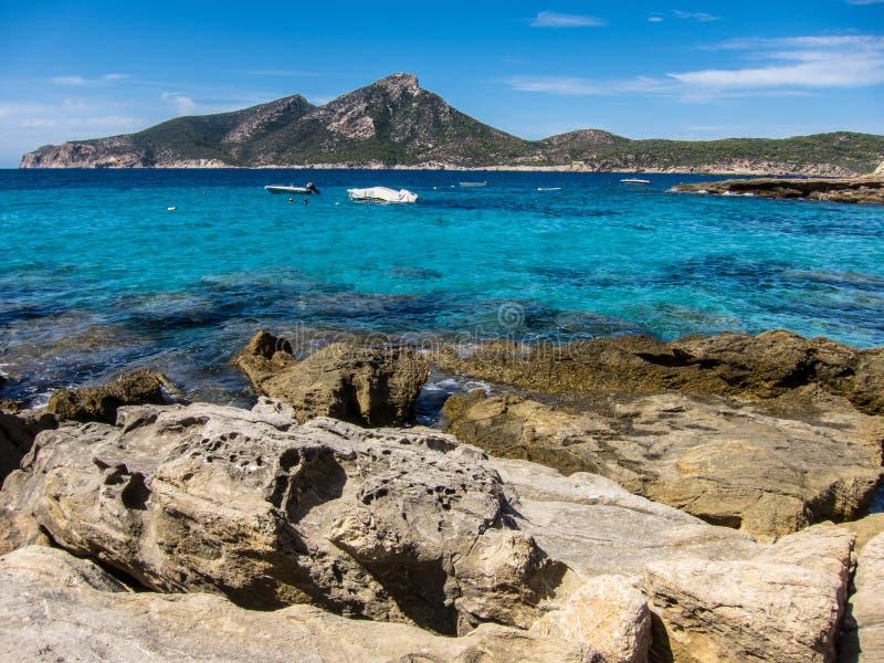 Espanha de Dragonera da ilha foto de stock