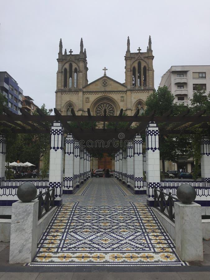 Espanha de Gijon as Astúrias da cidade imagem de stock royalty free
