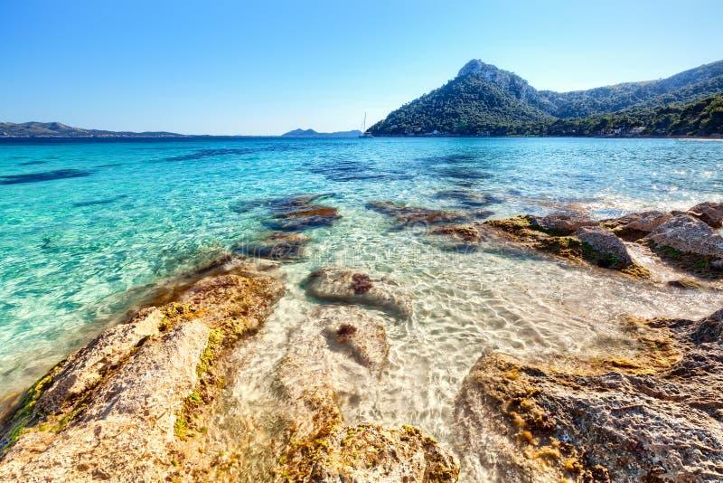 Espanha de Playa de Formentor Mallorca imagens de stock