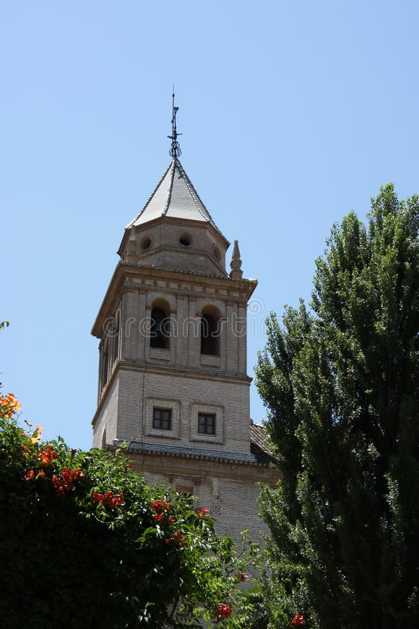 Espanha de Santa Maria Church Alhambra Granada Andalusia imagem de stock