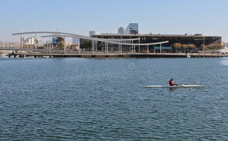 Espanha de Vell Barcelona do porto do remador imagens de stock