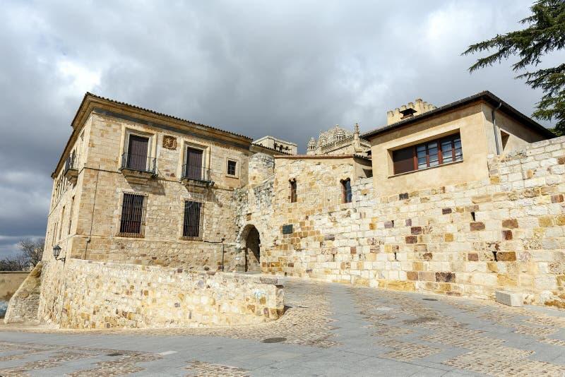 Espanha de Zamora da porta do bispo fotos de stock