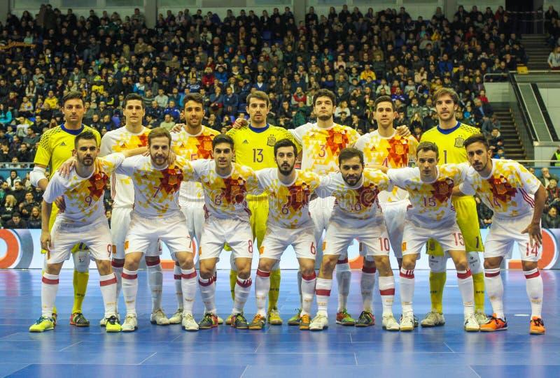 Espanha futsal imagem de stock royalty free