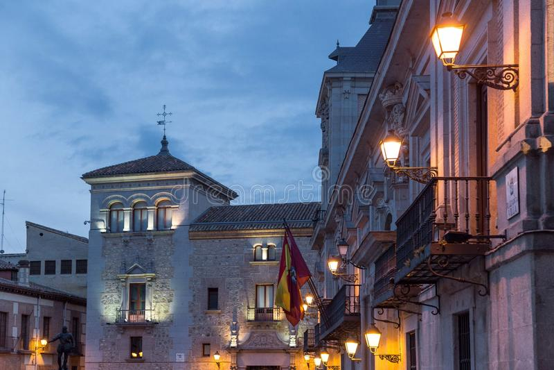 Espanha, Madri, Plaza de la Casa de campo foto de stock royalty free