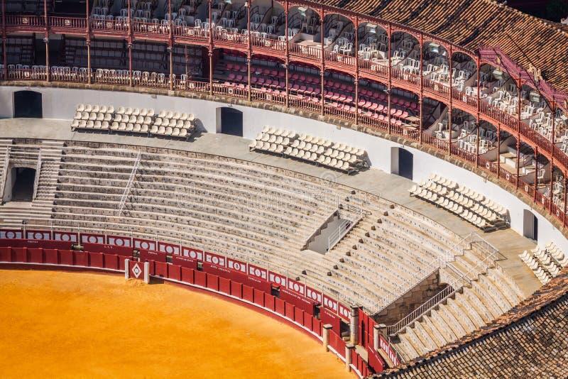 Espanha, Malaga plaza de toros fotos de stock royalty free