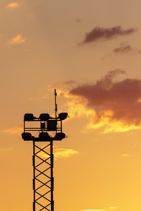 Espanha, por do sol, torre clara foto de stock royalty free