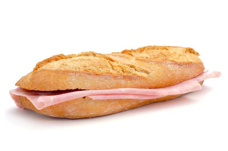 Espanhol bocadillo de jamon de york, um sanduíche de presunto foto de stock royalty free