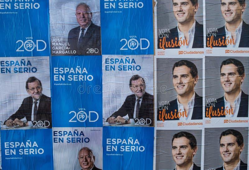Espanhol 2015 eleições fotografia de stock
