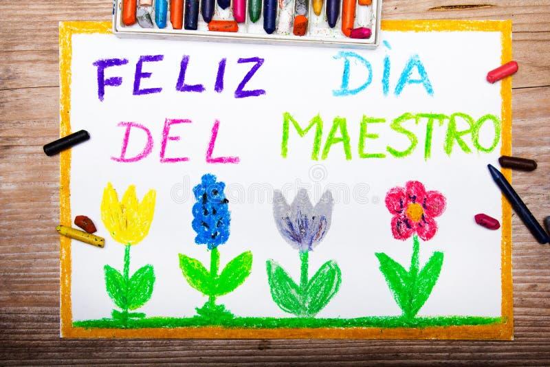 Espanhol Teacher& x27; dia de s ilustração stock