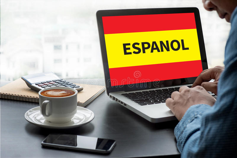 ESPANOL leer Spaans Onderwijs en Habla Espanol, het Vragen  stock illustratie