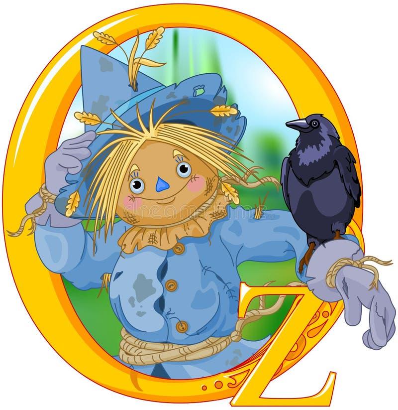 Espantalho e corvo ilustração royalty free