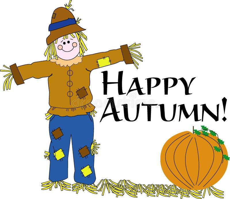 Espantalho feliz do outono ilustração do vetor