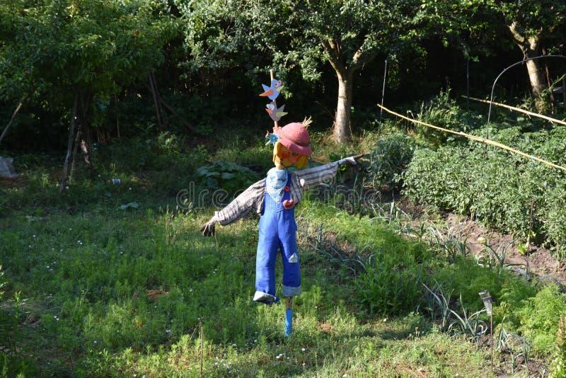 Espantapájaros artístico del patio trasero en Segovia España fotos de archivo libres de regalías