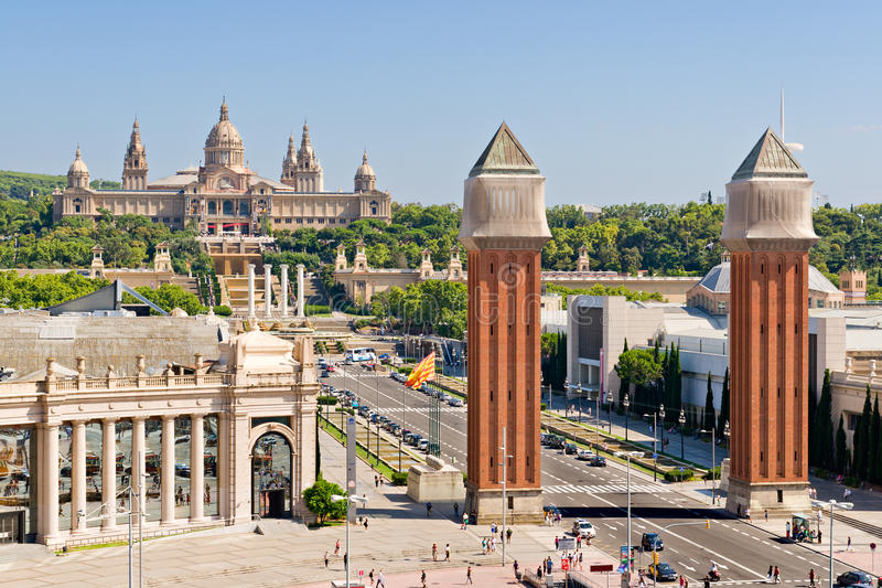 Espanya Square in Barcelona royalty free stock photography