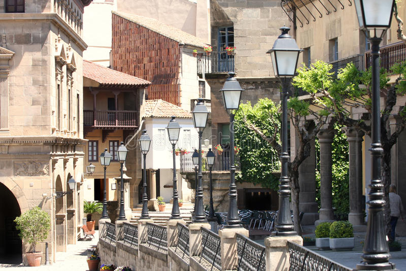 espanyol poble Испания barcelona стоковое изображение