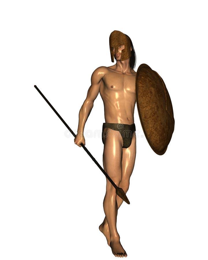 Espartano stock de ilustración