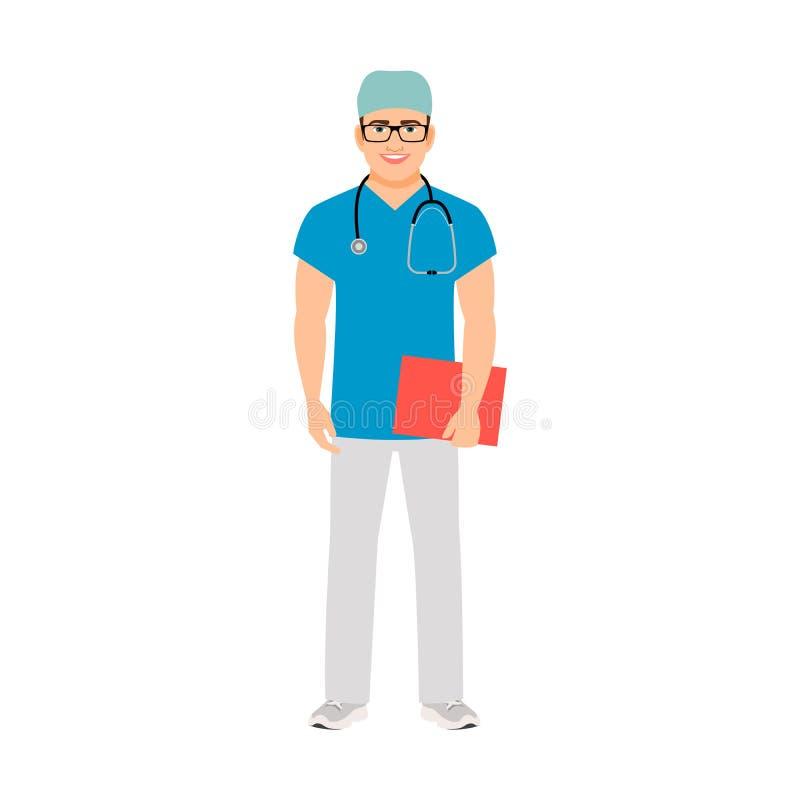 Especialista médico del pediatra stock de ilustración