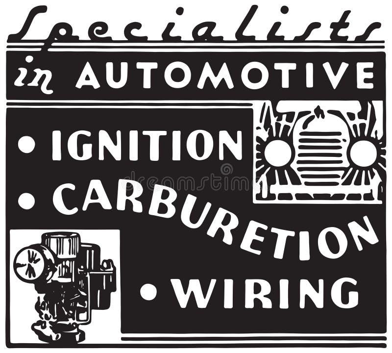 Especialistas em automotivo ilustração do vetor