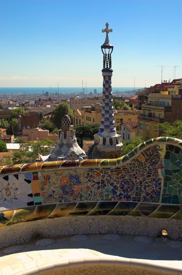 Especiaria-endureça casas no parque Guell por Antoni Gaudi imagem de stock royalty free