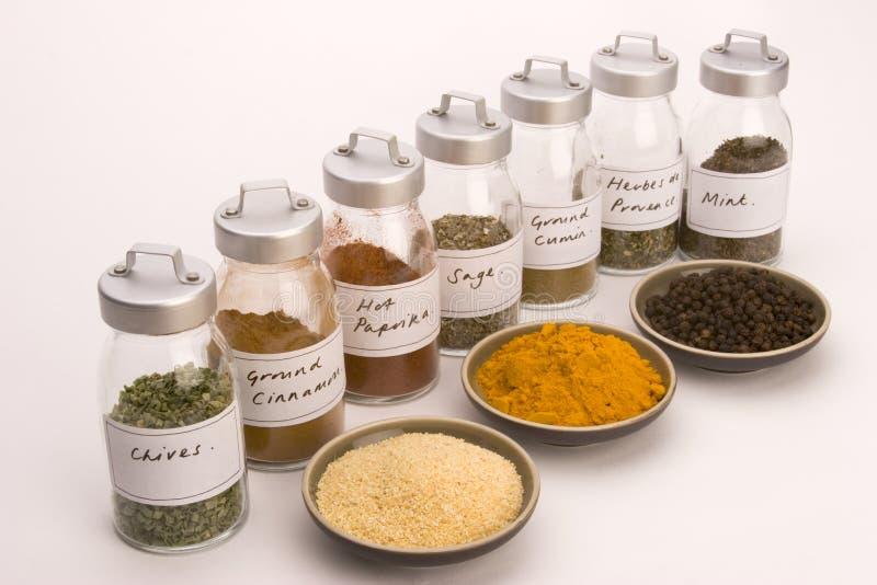 A especiaria range bacias da especiaria do wih fotos de stock royalty free