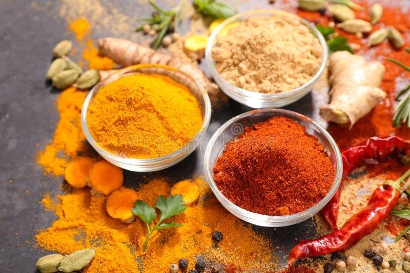 Especiarias e aroma imagem de stock