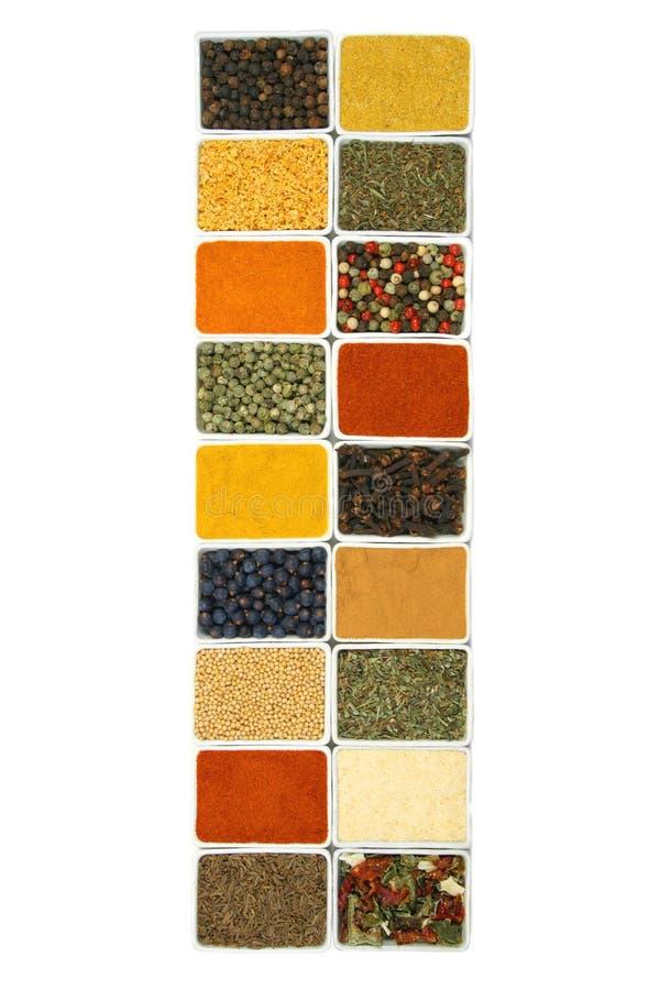 Especiarias e ervas da culinária foto de stock royalty free