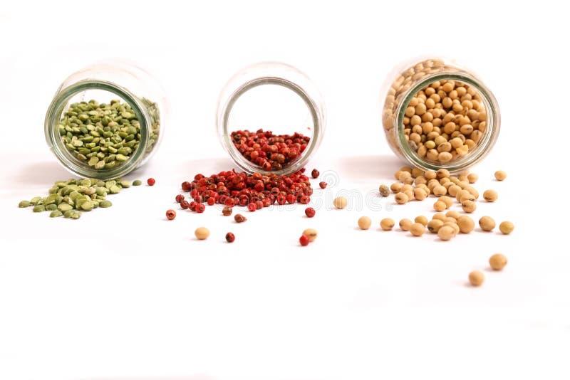 Especiarias e leguminosa fotografia de stock