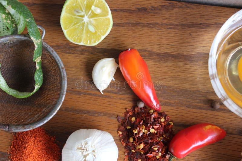 Especiarias e tempero da cozinha imagem de stock royalty free
