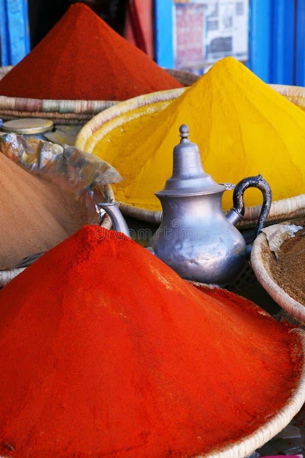 Especiarias marroquinas fotografia de stock