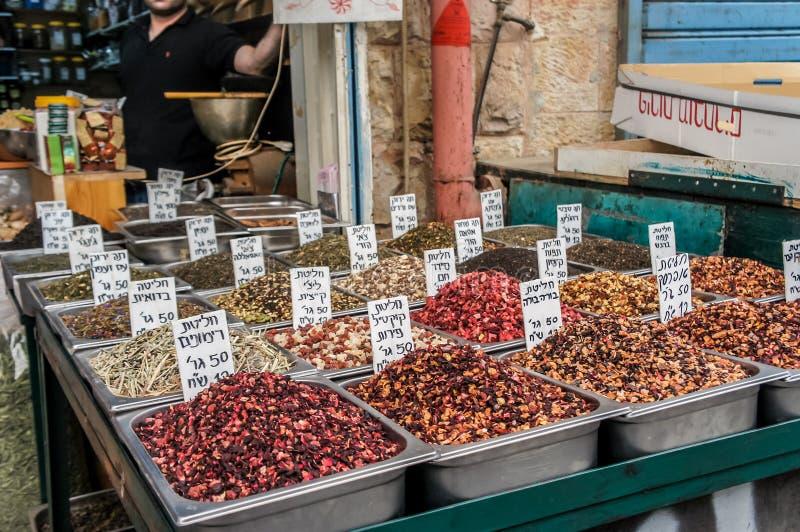 Especiarias no mercado do Jerusalém imagem de stock royalty free