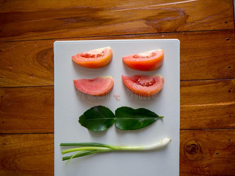 Especiarias usadas na preparação dos alimentos para o café da manhã fotografia de stock