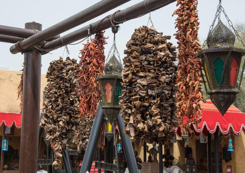 Especias e hierba árabes en la cocina al aire libre foto de archivo libre de regalías