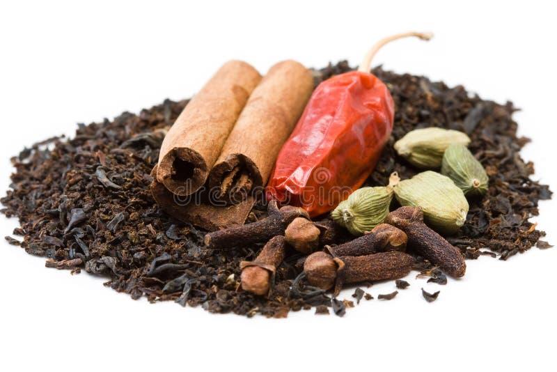Especias para el té de Chai fotografía de archivo libre de regalías
