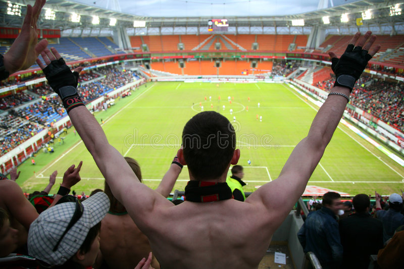 Espectador no futebol imagens de stock royalty free