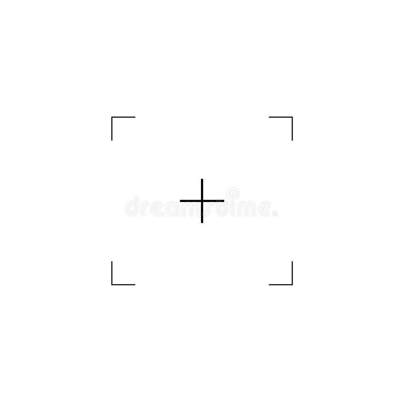 Espectador plano simple de la cámara ilustración del vector