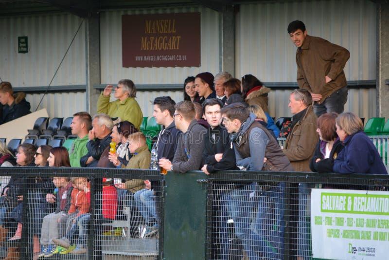 Espectadores do futebol no suporte foto de stock royalty free