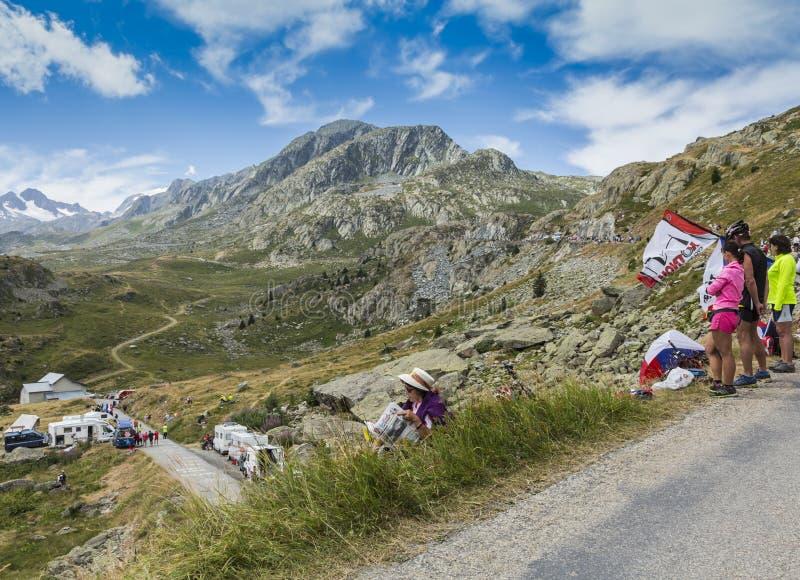 Espectadores - Tour de France 2015 imágenes de archivo libres de regalías
