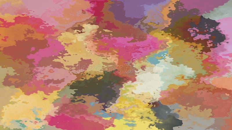 Espectro colorido en colores pastel manchado abstracto del fondo del rectángulo del modelo - arte de pintura moderno - efecto de  libre illustration