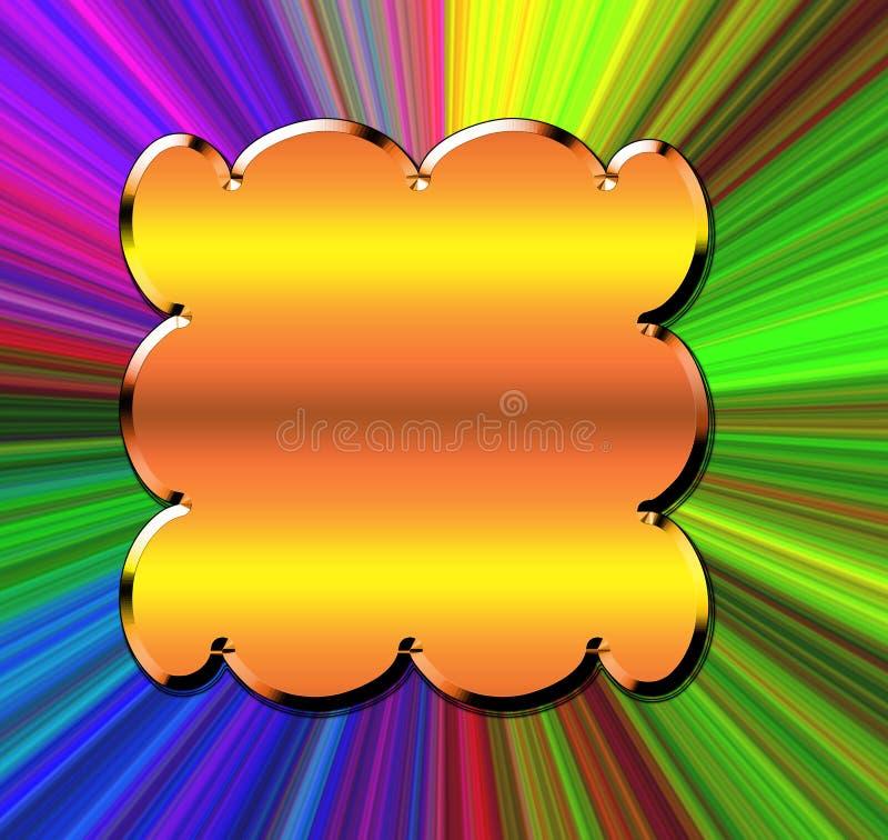 Espectro da cor ilustração stock