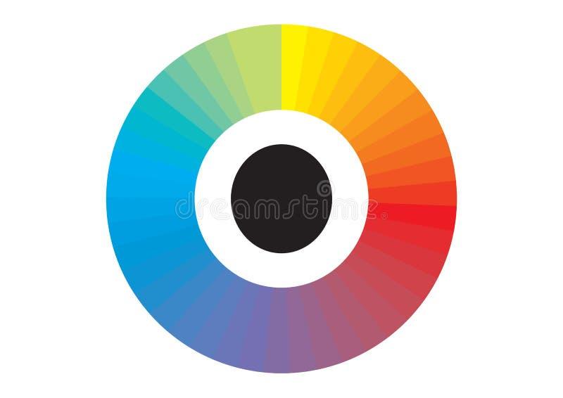Espectro de color ilustración del vector