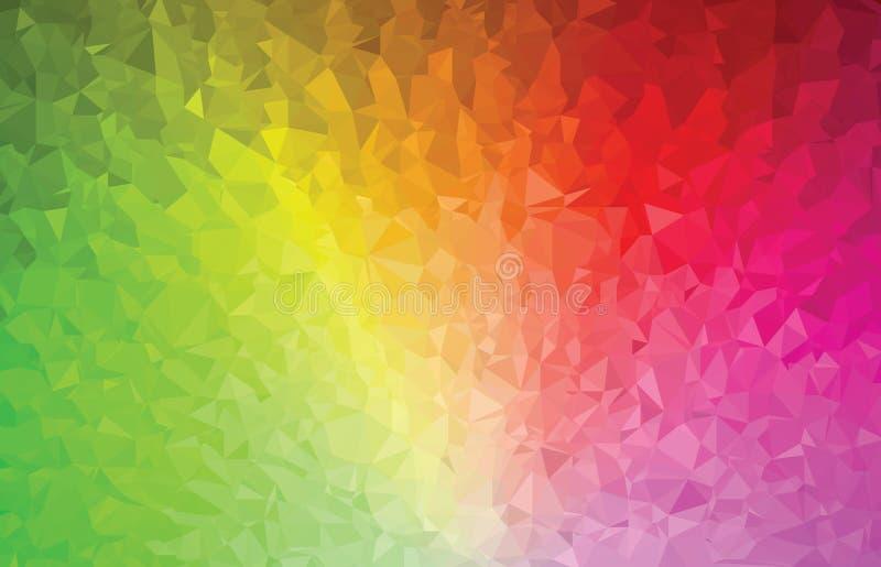 Espectro de color abstracto del modelo de la geometría del triángulo del fondo ilustración del vector