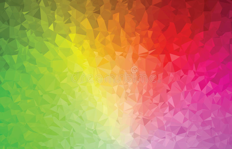 Espectro de cor abstrato do teste padrão da geometria do triângulo do fundo ilustração do vetor