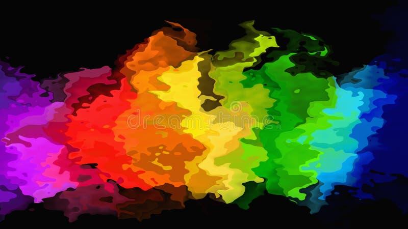 Espectro de cor completa de néon manchado abstrato do arco-íris do destaque do fundo do retângulo do teste padrão - arte de pintu ilustração stock